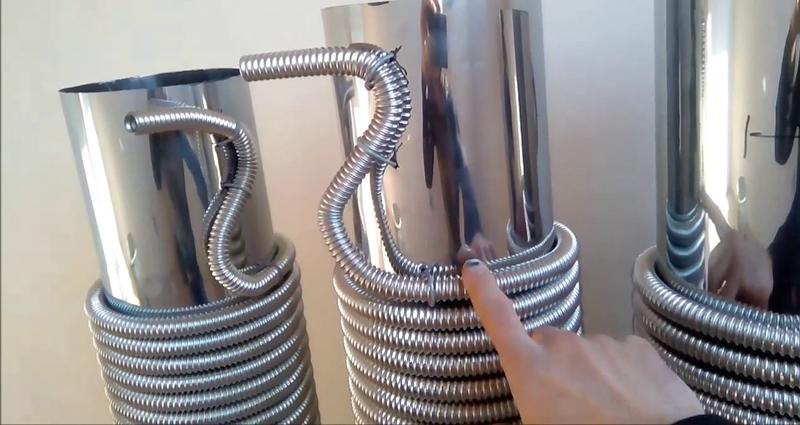 Гофрированная нержавеющая труба для теплообменника